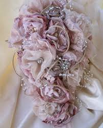 bouquet fabric bouquet vintage styled shabby chic fabric wedding