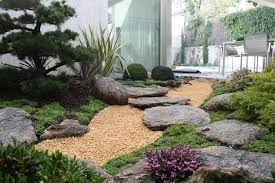 small japanese garden landscape asian with bonsai london building