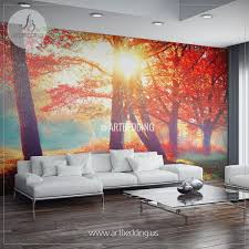 wall murals wall tapestries canvas wall art wall decor tagged autumn fall wall mural self adhesive peel stick photo mural forest wall mural