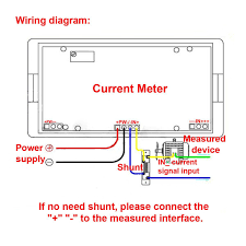 amazon com drok small lcd digital blue backlight dc 500a ammeter