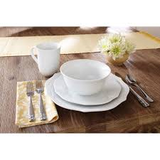 red vanilla pinpoint white 20 piece dinnerware set walmart com