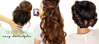 3 totally easy back to hairstyles cute hair tutorial