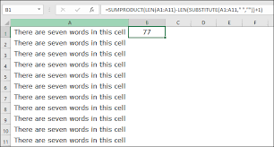 Count Number Of Words In Excel The Best 4 Ways To Count Words In Excel Cell Range Worksheet