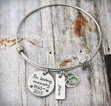 in loving memory charms wire bangle charm bracelet memorial bracelet in loving