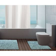 Blue Bath Mat 100 Cotton Bathroom Mats Set Washable Bath U0026 Pedestal Mat Sets
