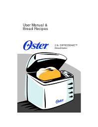 bread maker users guides from
