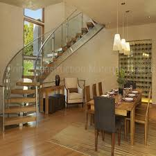 Curved Stairs Design Solid Wood Steps Round Staircase Design