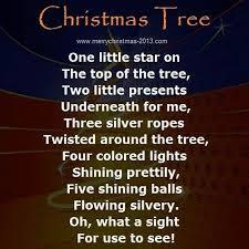 christmas tree poems for kids u2013 happy holidays