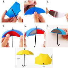umbrella shape cute self adhesive wall hangings hooks in dubai