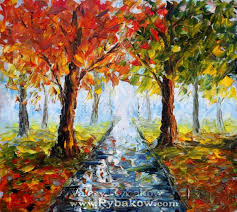 easy canvas art landscape oil painting autumn nature 145 by valery rybakow painting