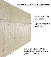 amazon com allwood v groove knotty pine wainscot kit 16 linear