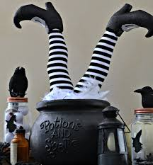 203 Best Frugal Halloween Ideas Images On Pinterest Halloween Easy Diy Witch Feet In Cauldron Halloween Decoration Rachel Teodoro