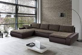 sofa braun wohnlandschaft cayenne 389x212 162cm braun sofa ecksofa