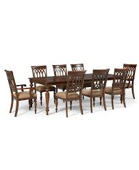 crestwood dining room furniture 9 piece set dining table 6 side