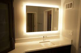 backlit bathroom vanity mirror illuminated vanity mirror backlit lighted bathroom regarding ideas 8