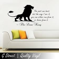 the lion king inspirational wall sticker quote kids bedroom the lion king inspirational wall sticker quote kids bedroom playroom home mural 100x55 amazon co uk kitchen home