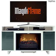 thetis iii lite white media center electric fireplace wall mantel