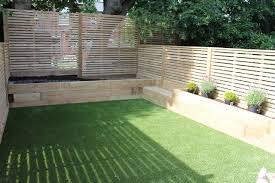 Raised Garden Bed On Concrete Patio Railway Sleepers Garden Ideas Google Search Landscaping