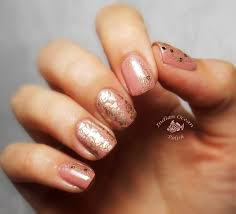 indian ocean polish pink gold and rose nails