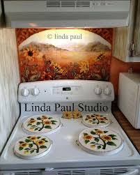 sunflower kitchen decorating ideas sunflower field tile kitchen backsplash mural by artist paul