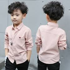 baby boy shirts 2017 new spring 100 cotton pure color dress shirt