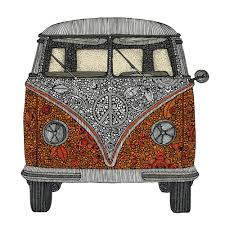 black volkswagen bus amazon com my wonderful walls the van volkswagen bus art wall