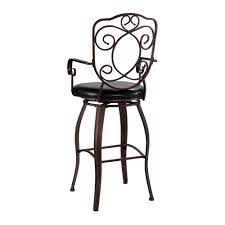 home decorators collection crested back 30 in brown swivel home decorators collection crested back 30 in brown swivel cushioned bar stool 02787mtl 01 kd u the home depot