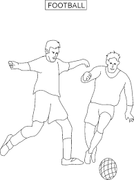 football coloring printable page for kids