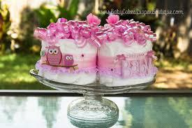 pink owl baby shower diaper cake centerpiece owl baby shower