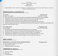Security Clearance On Resume Resume Builder Military Lukex Co