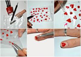 howto valentine u0027s day heart manicure classically contemporary