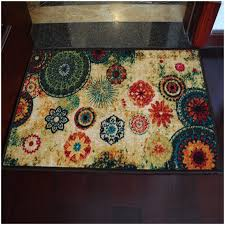Country Kitchen Rugs Appliances Floral Pattern Trendy White Cabinet Country Kitchen
