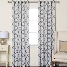 Moroccan Print Curtain Panels by Wellborn Reverse Moroccan Print Curtain Panel Moroccan Print