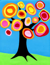 kandinsky tree collage art projects for kids