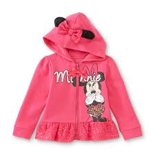 Minnie Mouse Clothes For Toddlers Disney Baby Minnie Mouse Infant U0026 Toddler U0027s Hoodie Jacket