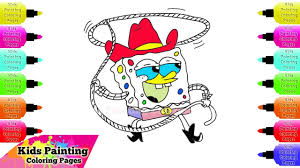 how to draw spongebob squarepants cowboy spongebob squarepants