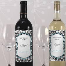 damask wedding wine bottle labels set of 8