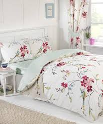 floral duvet cover fitted sheet and curtains bed in a bag bedding