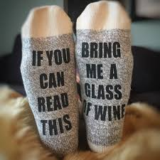 Christmas Gifts For Wife Wine Socks Christmas Gift If You Can Read This Bring Me A
