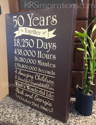 50 anniversary gift 50th anniversary gift canvas krs inspirations