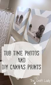bath time photos and diy canvas prints the crazy craft lady