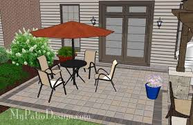 Backyard Brick Patio Design With 12 X 12 Pergola Grill Station by Simple And Affordable Brick Patio Design With Pergola 470 Sq Ft