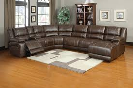 attractive brown leather sectional with recliners soft brown