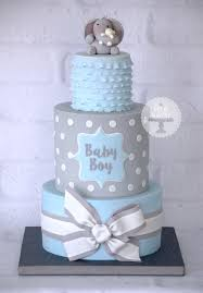 it s a boy baby shower ideas a baby boy blue and grey baby shower cake based on a design by