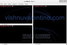 tutorial de uso de kali linux split kali linux terminal window ethical hacking tutorials tips