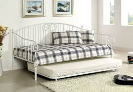 cm1603wh hamden metal daybed in white w twin trundle