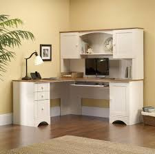 Sauder Harbor View Computer Desk With Hutch Antiqued White Furniture Captivating White Desk Design With Hutch And White