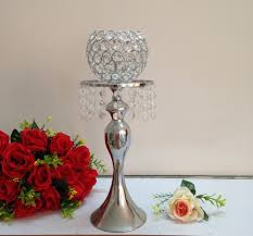 Wedding Centerpiece Vases Aliexpress Com Buy 40cm H Crystal Ball Candle Holder Wedding