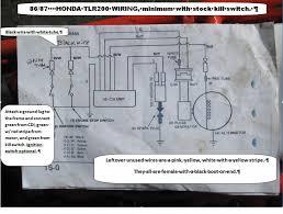 honda tlr200 wiring diagram honda wiring diagrams instruction