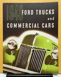 Vintage Ford Truck Brochures - ford model panel sedan delivery stake coe pickup sales brochure